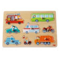 Haba 301940 - puzzle nakładane - Pojazdy