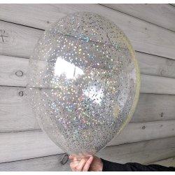 Balon z brokatem holograficznym, 12 cali