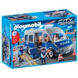 Playmobil 9236 - Samochód policyjny z blokadą drogową