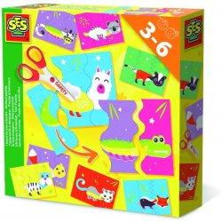 SES Creative 14647 - Uczę się używać nożyczek - puzzle, zwierzątka