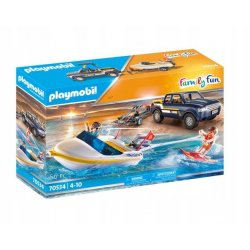 Playmobil 70534 - Pickup z łodzią motorową