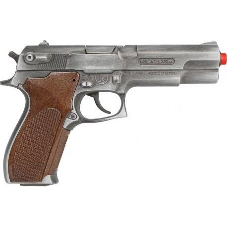 Gonher 45/1 GOLD - Metalowy pistolet na kapiszony - Policyjny