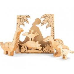 Bajo 25210 - Bajosaurs - zestaw drewnianych dinozaurów