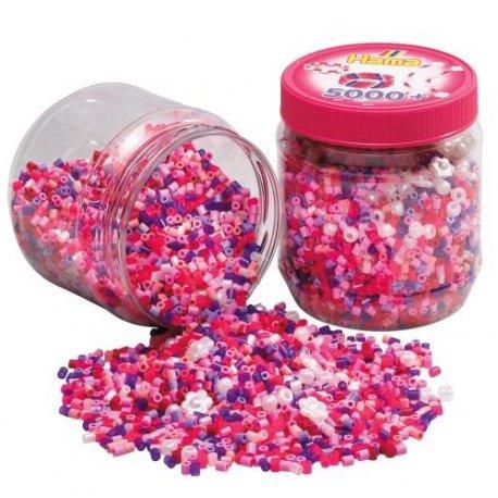 Hama 2078 - 5000 koralików w tubie - różowe