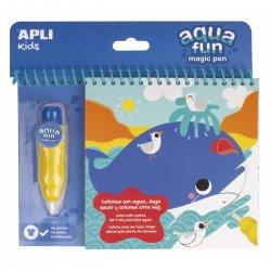 Kolorowanka wodna dla maluchów, Apli Kids, Morze