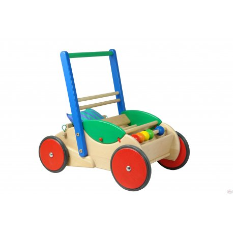 Bajo 73110 - drewniany chodzik pchacz