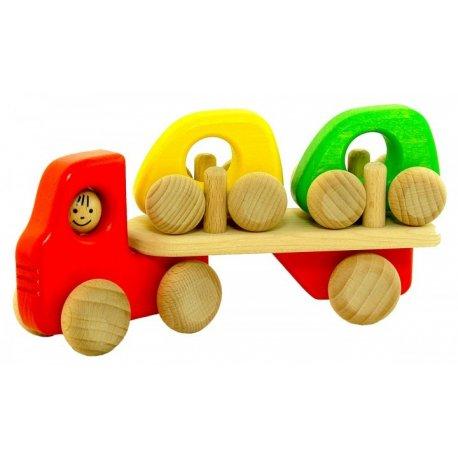 Bajo 41430 - Autotransporter H1 - Ciężarówka z dwoma autkami