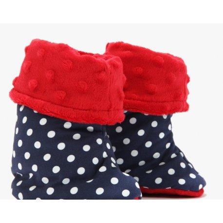 Buciki zimowe S - Polka Dots, Red - La Millou