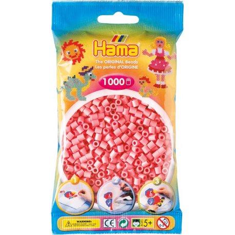 Hama 207-06 - Kolor RÓŻOWY - 1000 koralików