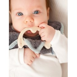 Lullalove - Śliniaczek z gryzaczkiem - SupeRRO baby eco