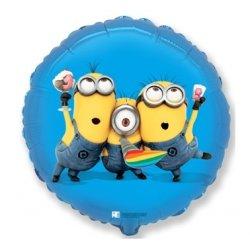 """Minions Party - balon z helem 18"""""""