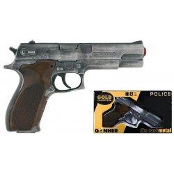 Pistolet na kapiszony Policyjny - dla dzieci