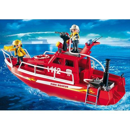 Playmobil 3128 - Łódź strażacka z armatką wodną