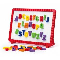 Quercetti 5181 - Tablica Magnetyczna z Literkami dla Dzieci