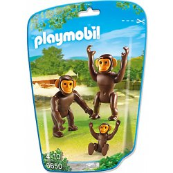 Playmobil 6650 - Figurki Rodzina Szympansów