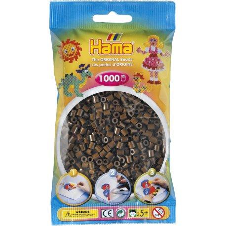 Hama 207-12 - Kolor Brązowe - 1000 koralików