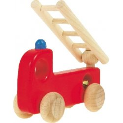 Straż - drewniany samochodzik z dzwoneczkiem - BAJO - 41810