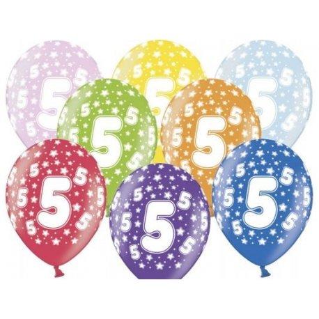 Balon 30cm Piątka - lateksowy, różne kolory