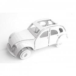 Cytrynka Biała- Samochód z Tektury - Leolandia