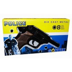 Policyjny pistolet na kapiszony - czarny METAL