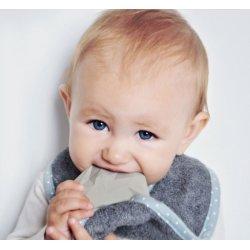 Lullalove - Śliniak z Kauczukowym Gryzakiem - SupeRRO Baby Hevea