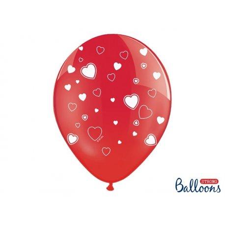 Balon SERCA Crytsal Poppy Red - balon lateksowy