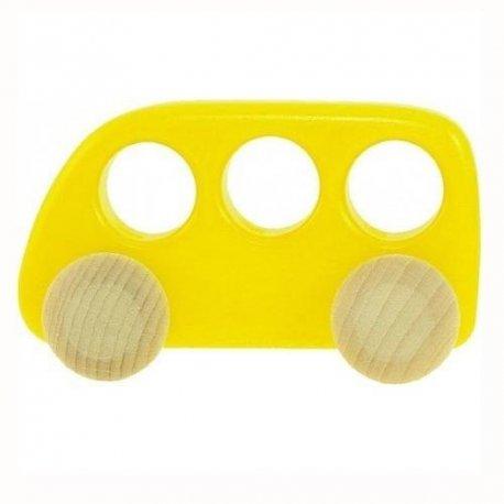 Autobus drewniany - Bajo 41510 - kolor żółty