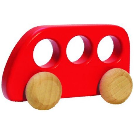 Autobus drewniany - Bajo 41510 - kolor czerwony