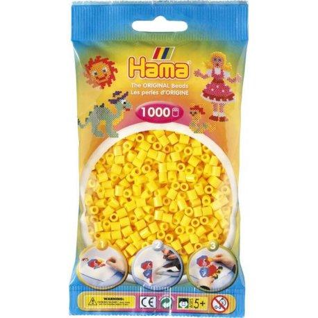 Hama 207-03 - 1000 Koralików Midi Kolor Żołty w Woreczku