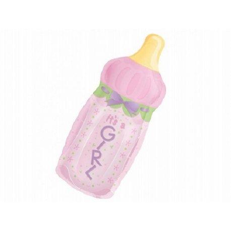 Balon w kształcie butelki - narodziny dziewczynki