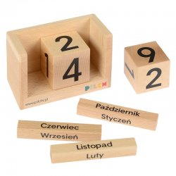 Drewniany kalendarz dla dzieci - Pilch