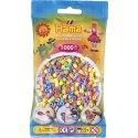Hama 207-50 - Dodatkowe Koraliki midi, 1000szt, mix pastelowy