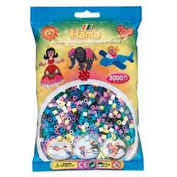 Hama 201-69 - Dodatkowe Koraliki midi, 3000szt mix kolorów