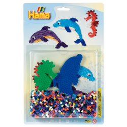 Hama 4058 - Delfiny i Konik Morski Duży Blister