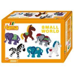 Hama 3504 - Small world - Słonie i Koniki