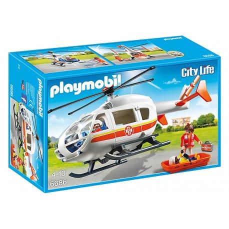 Playmobil 6686 - Śmigłowiec ratunkowy