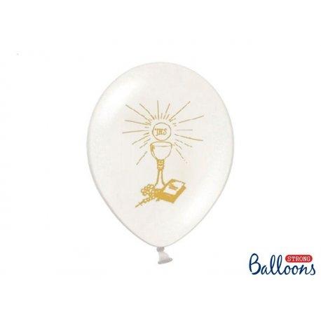 Balon biały 30cm, I Komunia Święta