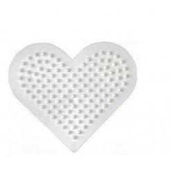 Hama 236 - małe serce - podkładka do koralików midi