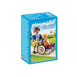 Playmobil 6663 - Dziecko na Wózku Inwalidzkim