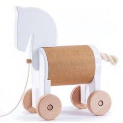 Bajo 22950 - Drewniany Konik Skrytka Pony Safebox Biały do Ciągnięcia