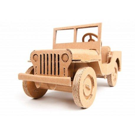 Samochód Terenowy z tektury - Leolandia