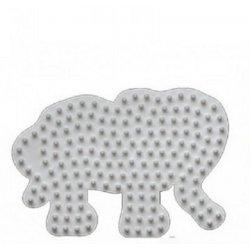 Hama 319, mała podkładka słoń - koraliki midi
