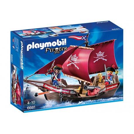 Playmobil 6681 - Żaglowiec żołnierski z armatą