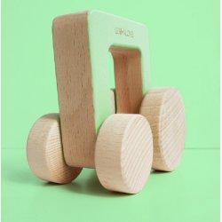 ODA car - drewniane autko kwadrat - Lullalove