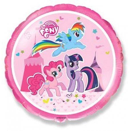 """Balon foliowy okrągły 18"""" My Little Pony"""