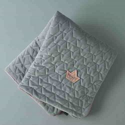 Kocyk pikowany Velvet Collection - Dark grey - La Millou