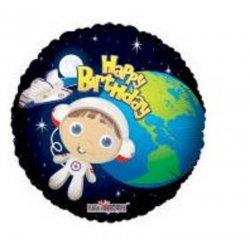 """Balon foliowy 18"""" Happy Birthday Astronauta"""