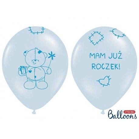 Balon 30 cm Mam już roczek - lateksowy, niebieski