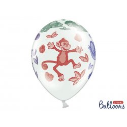 Balon lateksowy 30cm - Zoo, Pastel White
