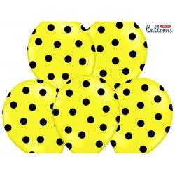 Balon lateksowy 30 cm - Kropki pastel lemon